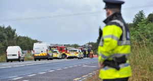 The scene of a fatal collision  on the Cork to Mallow Road near Blarney.