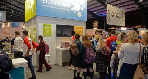 The Student Hub at the Higher Options conference at the RDS. Photograph: Eric Luke/The Irish Times