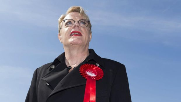 Political principles: Eddie Izzard campaigning for the Labour Party in this year's UK general election. Photograph: Matthew Horwood/Getty