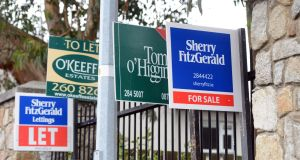 The number of houses advertised for sale in Ireland in July was down 9 per cent year on year, according to an analysis by Sherry FitzGerald. Photograph: Cyril Byrne