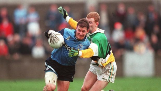 Playing days: Jim Gavin against Offaly in 1997. Photograph: James Meehan/Inpho
