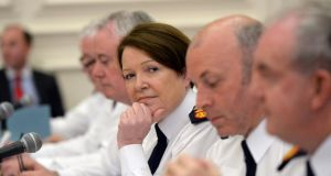 Garda commissioner: Nóirín O'Sullivan will be entitled to a lump sum of almost €290,000 and a pension of €90,000. Photograph: Cyril Byrne