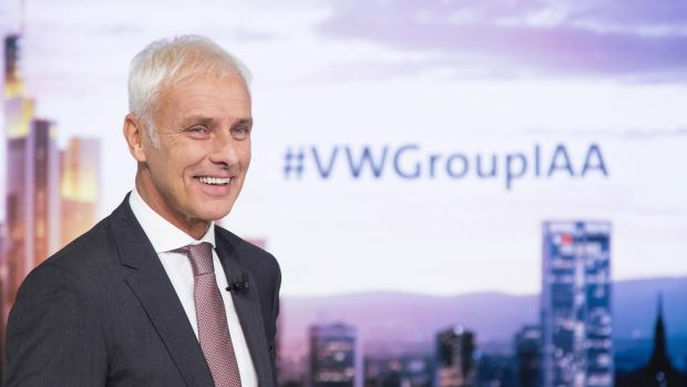 VW boss Matthias Müller: outlining the future direction for the car giant in an electric world