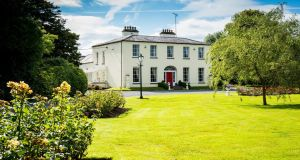 Wardenstown House, Co Westmeath. This 497sq m (5,346sq ft) house on 86 acres is for sale with Savill's and Egan Auctioneers for €2.2 million