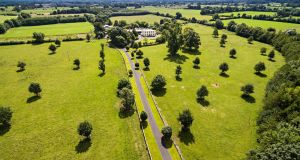 Aerial view of Wardenstown House, Co Westmeath.