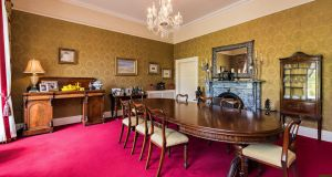 Diningroom at Wardenstown House, Co Westmeath.
