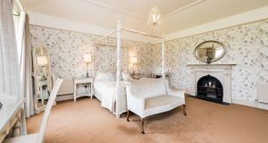 Bedroom at Wardenstown House, Co Westmeath.