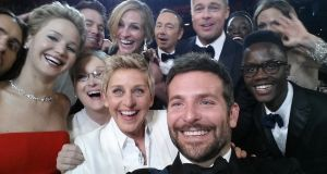 Ellen DeGeneres poses for a selfie with the stars at the 2014 Oscars. The Pi Solo's wide-angle lens could fit in a lot more celebrities. Photograph: Ellen DeGeneres/Twitter via Getty Images