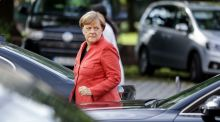 Angela Merkel: After 12 years in power,  the German chancellor knows that major reform of how the EU  operates will be a slow  affair. Photograph: Kay Nietfeld/AFP/Getty Images