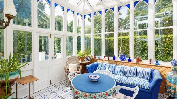 The sunroom at Montebello, Killiney Hill Road, Co Dublin