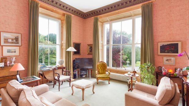 The sittingroom at Montebello, Killiney Hill Road, Co Dublin