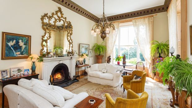 The drawingroom at Montebello, Killiney Hill Road, Co Dublin