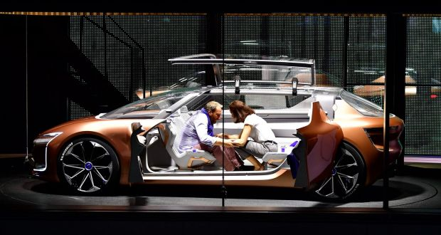 A Sits Inside The Renault Prototype Symbioz