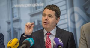 Paschal Donohoe: looks set to reimpose the cap on tax write-downs companies can claim relating to intellectual property assets. Photograph: Brenda Fitzsimons