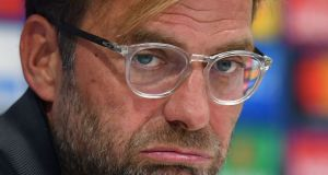 Liverpool manager Jürgen Klopp: got his days mixed up. Photograph: Anthony Devlin/AFP/Getty Images