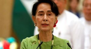 Myanmar's leader Aung San Suu Kyi has cancelled plans to attend the UN General Assembly. Photograph: Soe Zeya Tun/Reuters.