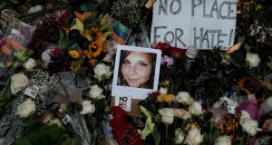 Charlottesville victim Heather Heyer  was killed by a member of a right-wing grouping during a protest in Virginia last month. Photograph: Justin Ide/Reuters