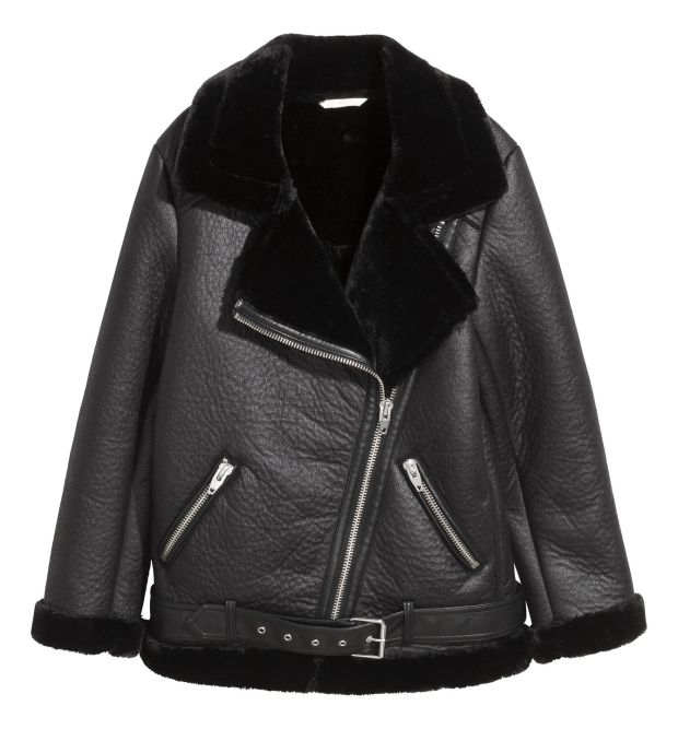Black leather jacket €89.99 from