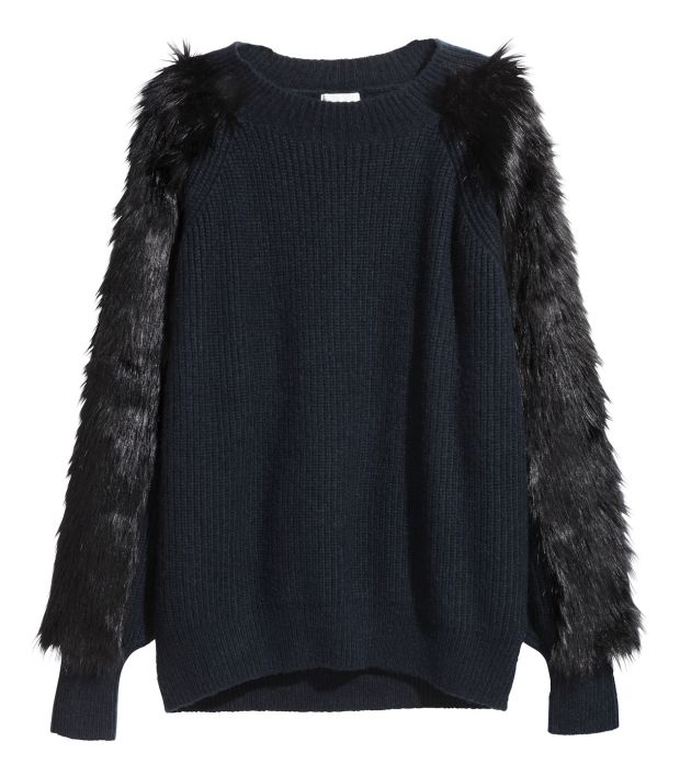 Furry-sleeved top €39.99