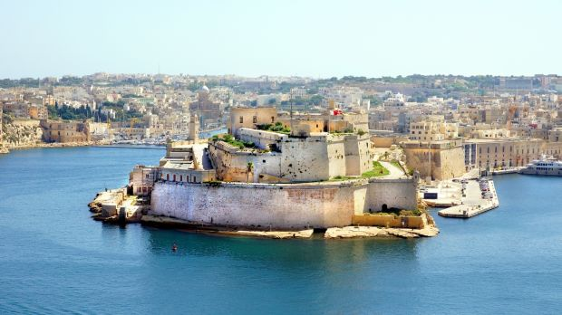 Fort St Angelo in Birgu, Malta, is a large fort located at the centre of the Grand Harbour. Photograph: Getty