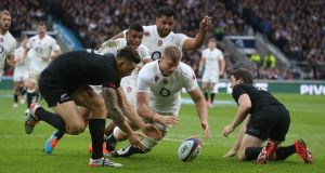 England and the All Blacks last met in November 2014. Photograph: David Rogers/Getty