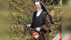 Sister doing it for herself: chainsaw-wielding nun helps clear Irma debris