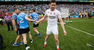 Sean Cavanagh made his final appearance for Tyrone in the All-Ireland semi-final defeat to Dublin. Photograph: Ryan Byrne/Inpho