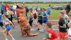 Is the Grit Doctor a dinosaur? Of course not. She is completely unbowed. A view of runners during the Great North Run in Newcastle. Photograph: Richard Sellers/PA Wire