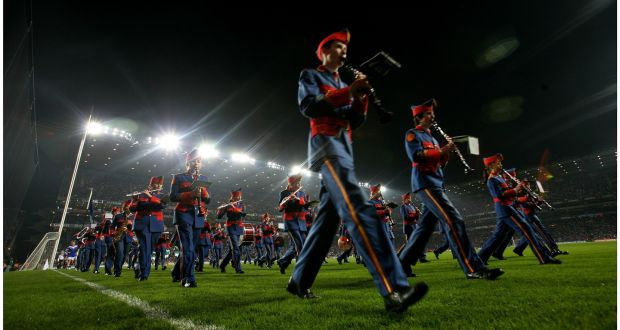 The Artane Boy's Band  in action at Croke Park. Photograph: Bryan O'Brien