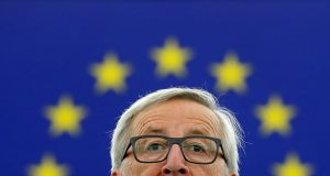 European Commission president Jean-Claude Juncker gave his annual State of the Union address at the European Parliament in Strasbourg on Wednesday. Photograph: Christian Hartmann/ Reuters