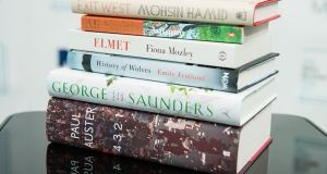 Six of the best?: The Man Booker prize 2017 shortlisted books. Photograph: Jeff Spicer/Getty Images