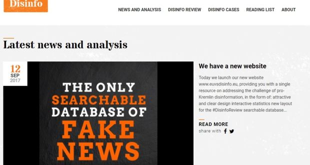Eu Website Takes On Russia S Fake News Industry