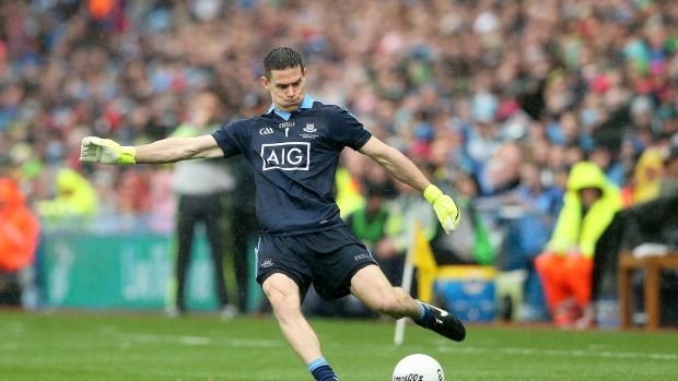 Stephen Cluxton: So far this summer Dublin have won 83 of Cluxton's 96 kickouts. Photograph: Ryan Byrne/Inpho