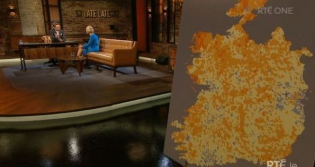 Show Map Of Ireland.Rte Late Late Show Says Sorry For 26 County Ireland Map