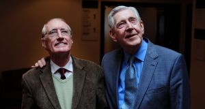 Frank Duggan  and Michael Twomey,  who played Cha and Miah in Hall's Pictorial Weekly. Photograph: Aidan Crawley
