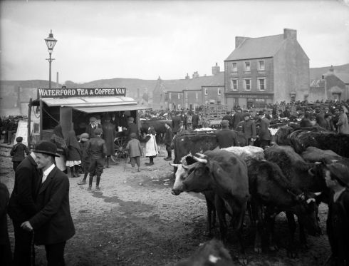 Crowds at Ballybricken Fair, Waterford city. Photograph: Poole Photographic Studio
