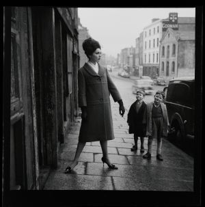 Model Linda Ward is pictured on Winetavern Street, Dublin. Photograph: Colman Doyle