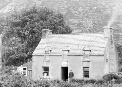 A post and telegraph office in Adrigole, west Co Cork. Photograph: Fergus O'Connor