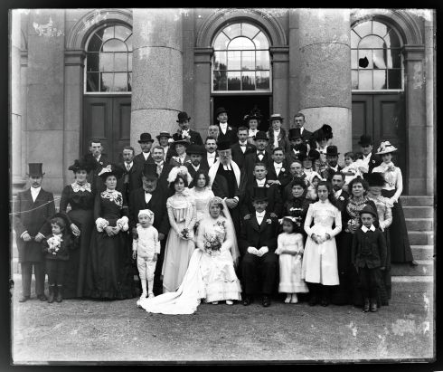 The Levin-Stein wedding at Waterford Courthouse. Photograph: Poole Photographic Studio