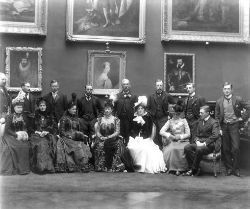 The future King George V (back row) is among visitors to the Picture Gallery in Kilkenny Castle. Photograph: Poole Photographic Studio