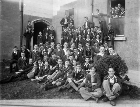Pupils at Good Counsel College, New Ross, Co Wexford. Photograph: Poole Photographic Studio