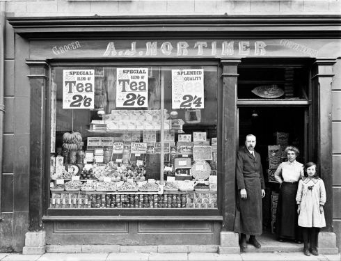 Mortimer's shop at 2 Bridge Street, Waterford. Photograph: Poole Photographic Studio