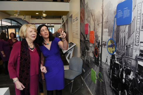 PHOTO DETECTIVES: Sabina Higgins attends the opening of the 'Photo Detectives' exhibition at the National Photographic Archive in Dublin. Photograph: Aidan Crawley