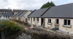 Traveller accommodation being built on Shanganagh Road in Co Dublin in 2015. Photograph: Cyril Byrne
