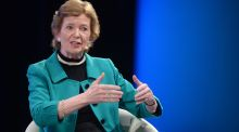 Income at the Mary Robinson Foundation fell by over 58 per cent in 2016. Photograph: Dara Mac Donaill