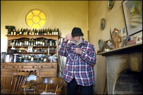 JP Donleavy reminiscing about his boxing days at his home in   Mullingar. Photograph: Brenda Fitzsimons/The Irish Times