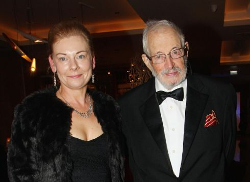 With Fran Cunningham at the Irish Book Awards in Dublin, November 2015. Photograph: Phillip Massey/Getty Images