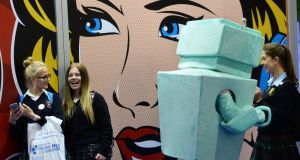 tudents visiting The Irish Times Higher Options stand in the RDS Dublin. Photograph: Dara Mac Dónaill/The Irish Times