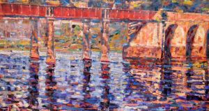 'The Red Bridge at Cappoquinn' (oil-on-canvas) by Arthur K. Maderson €5,200