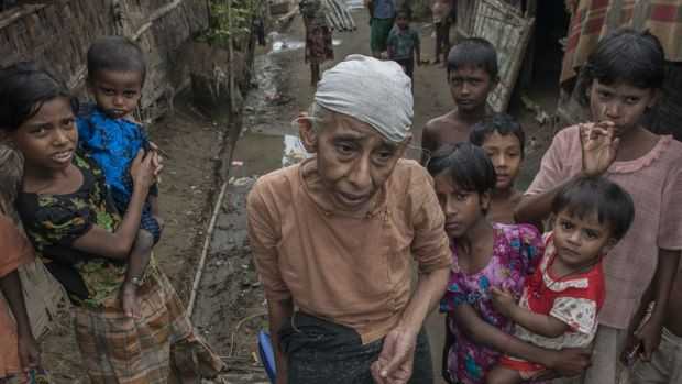 Rohingya refugees in a photographed here in camp for internally displaced people in Sittwe, Myanmar, in September, 2014. Photograph: Brenda Fitzsimons